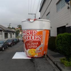 Inflaveis promocionais cup noodles