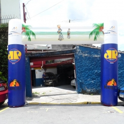 Portal inflavel Praia Shopping